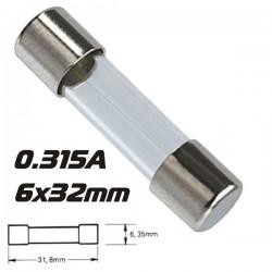 Fusível 6X32 Fusão Rápida 0.315A