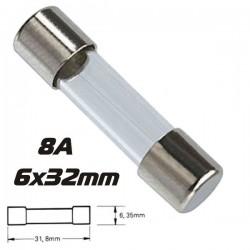 Fusível 6X32 Fusão Rápida 8A