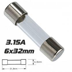 Fusível 6X32 Fusão Lenta 3.15A