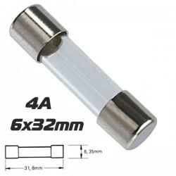 Fusível 6X32 Fusão Lenta 4A