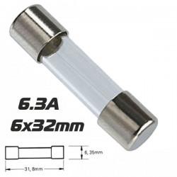 Fusível 6X32 Fusão Lenta 6.3A