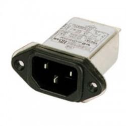 Ficha IEC Macho 3p c/ Filtro 250v 6A