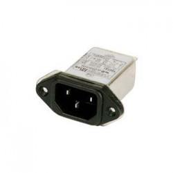 Ficha iec macho 3p de painel c/ filtro emi/emc 250v 10a