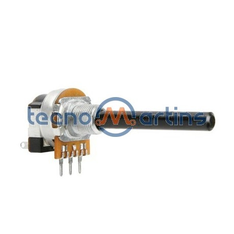 Potenciómetro Linear 1K Metalico C/ Interruptor