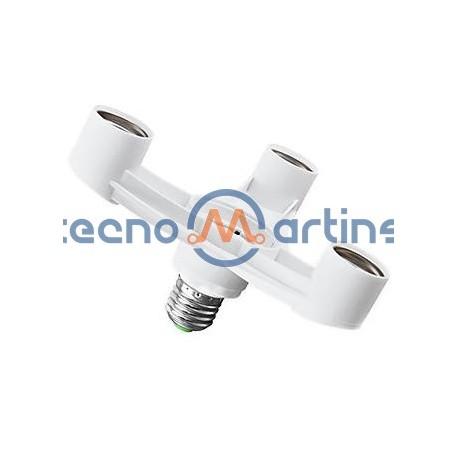 Suporte Adaptador para lâmpadas de E27 para 3x E27