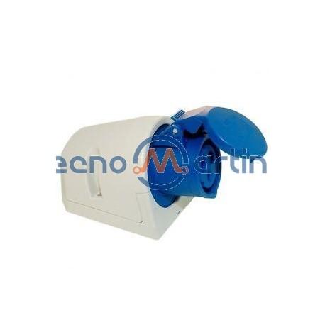 Tomada CEE saliente monofásica 3 pólos 16A IP44 - PCE 113-6