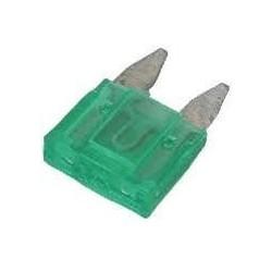Fusível de automóvel mini 30A Verde