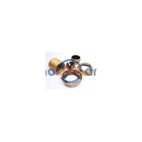 Suporte p/ lâmpada E27, todo roscado, com 2 anilhas - dourado