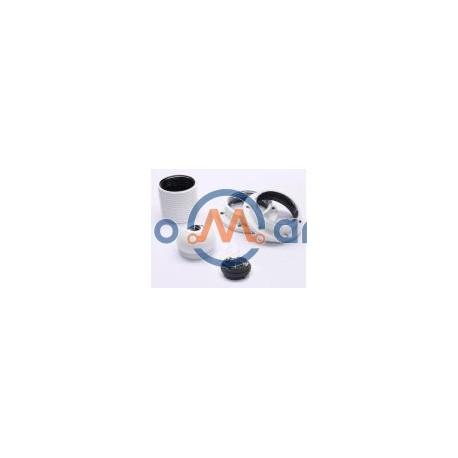 Suporte p/ lâmpada E27, todo roscado, com 2 anilhas - branco