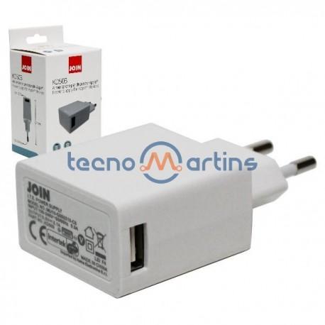 Alimentador USB 5v-500mA compacto comutado c/ USB