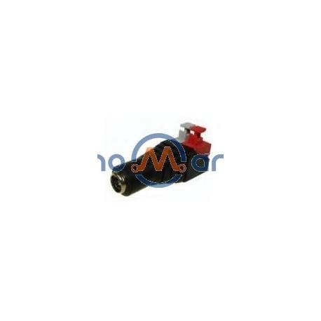 Ficha Alimentação Dc Macho 5.5x2.5mm Ligação c/ Mola