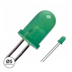 Led 5mm Verde Difuso Intermitente