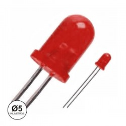 Led 5mm intermitente vermelho