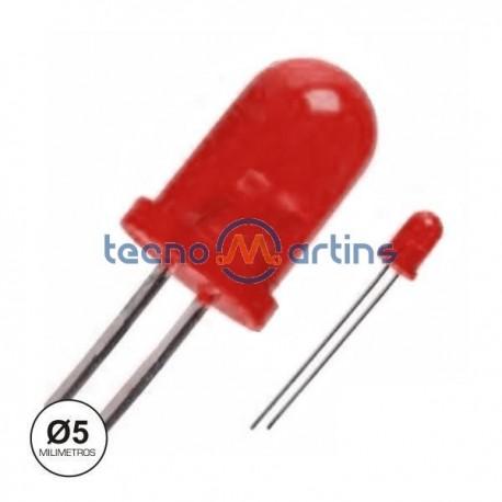 Led 5mm Vermelho Difuso Intermitente