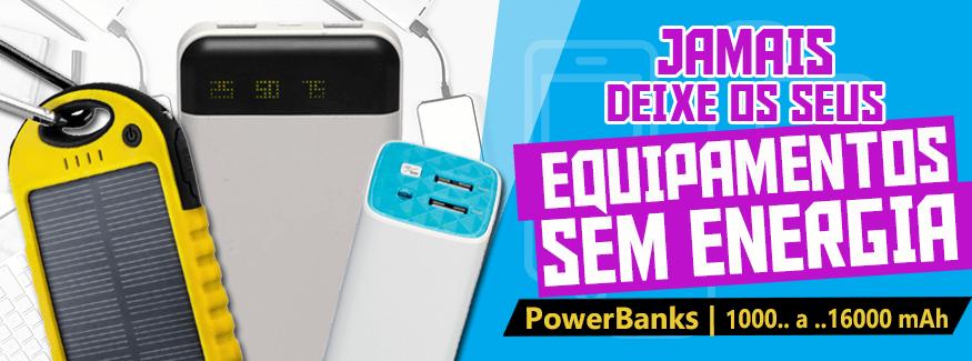 Power Banks - Múltiplos modelos cores e capacidades